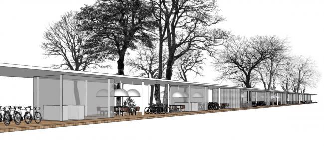 Павильон на ВДНХ. Объединение павильонов. Реализация, 2014 © Kleinewelt Architekten