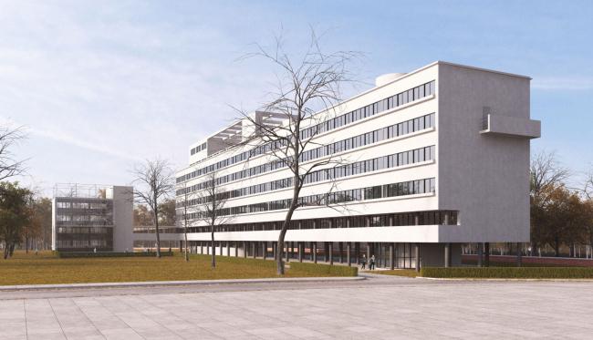 Реставрация Дома Наркомфина. Проект, 2014 © Kleinewelt Architekten