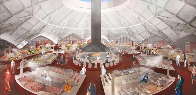 Проект реконструкции Даниловского рынка. Проект, 2015 © Nowadays