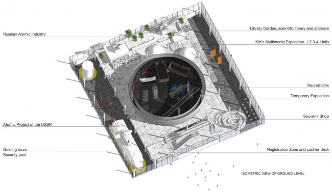 Павильон «Росатом» на ВДНХ. Схема. Конкурсный проект, 2015 © Nowadays