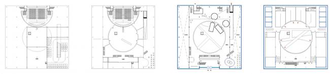 Павильон «Росатом» на ВДНХ. Планы этажей. Конкурсный проект, 2015 © Nowadays
