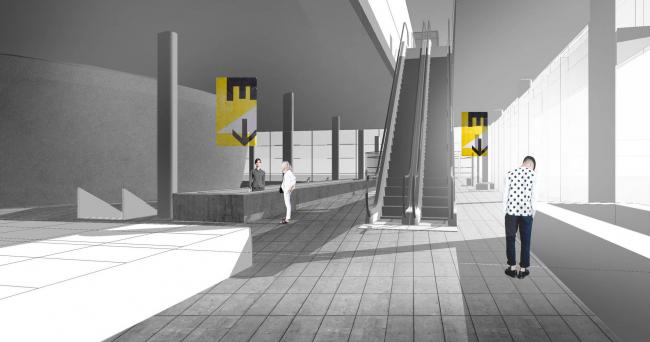 Павильон «Росатом» на ВДНХ. Конкурсный проект, 2015 © Nowadays