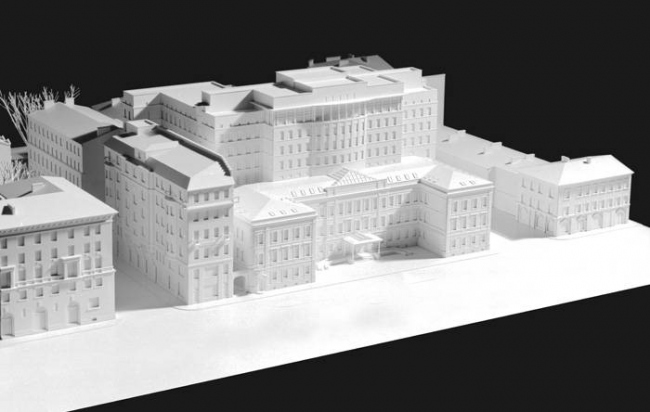 Отель «Введенский». Реализация, 2007. Макет © Ю.А. Сенаторов