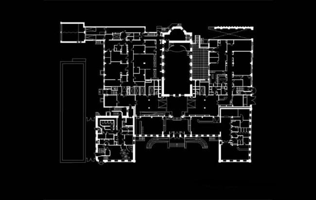 Отель «Введенский». Реализация, 2007. План 1-го этажа © Герасимов и партнеры