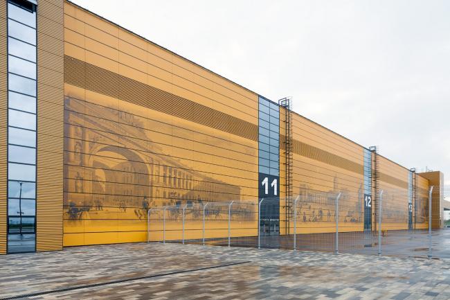Congress and trade show center EXPOFORUM on the Peterburgskoe Highway. Construction, 2014. Evgeny Gerasimov and Partners, SPEECH, nps tchoban voss. Photograph © D.Chebanenko