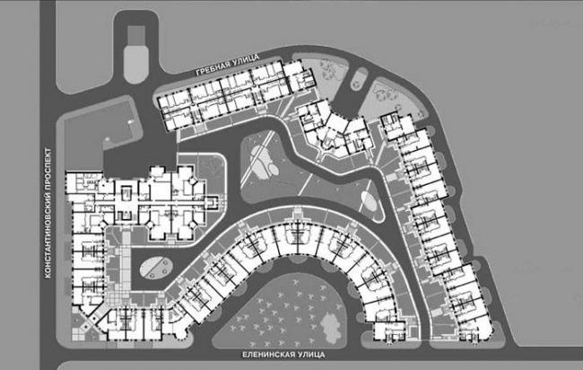 Жилой комплекс «Зеленый остров». Реализация, 2000 © Герасимов и партнеры
