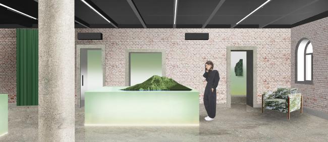 Интерьер офиса продаж компании «Вектор Инвестментс». Проект, 2015 © Nowadays
