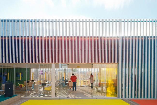 Временный павильон компании Microsoft в Олимпийском парке Сочи. Реализация, 2014. Nowadays. Фотография © Илья Иванов