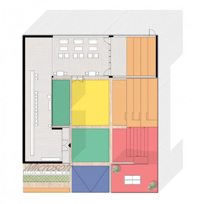 Временный павильон компании Microsoft в Олимпийском парке Сочи. План. Реализация, 2014 © Nowadays