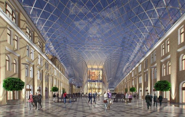 Концепция реконструкции Большого Гостиного Двора. Проект, 2015 © Герасимов и партнеры
