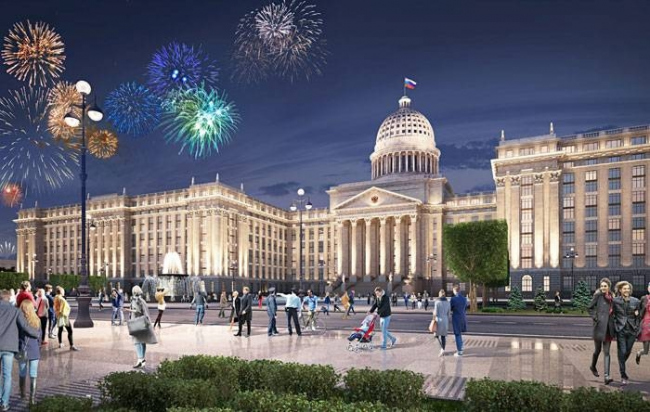 Concept of the Parliament Center of the Russian Federation. Project, 2015 © Evgeny Gerasimov and Partners