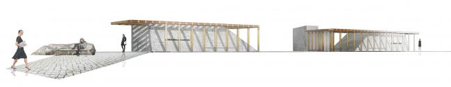 Дизайн интерьера станции метро «Солнцево». Фасады. Конкурсный проект, 2014 © Nowadays