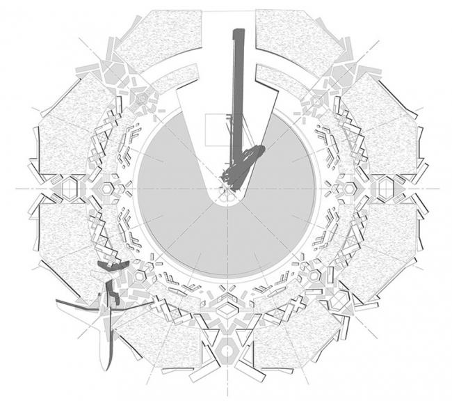 Благоустройство площади Промышленности перед павильоном «Космос» на ВДНХ. Генеральный план. Реализация, 2014 © Nowadays