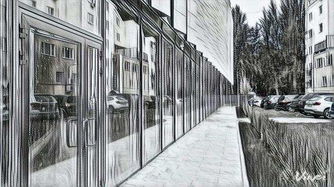 Пример использования фильтра «Пиранези» в приложении Vinci. Дом на ул. Красина,ТПО «Резерв»