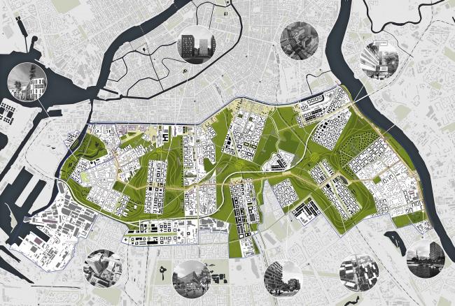 ТПО «Резерв», Москва. Концепция развития «Серого пояса» © ТПО «Резерв»