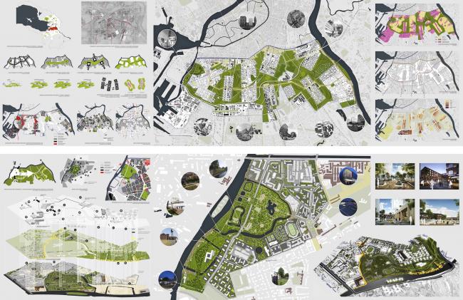 ТПО «Резерв», Москва. Концепция развития «Серого пояса». Планшет © ТПО «Резерв»