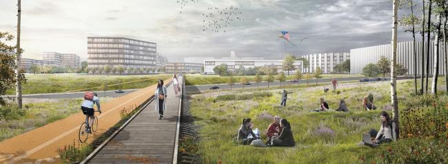 MLA+, Голландия. Концепция развития «Серого пояса» © MLA+