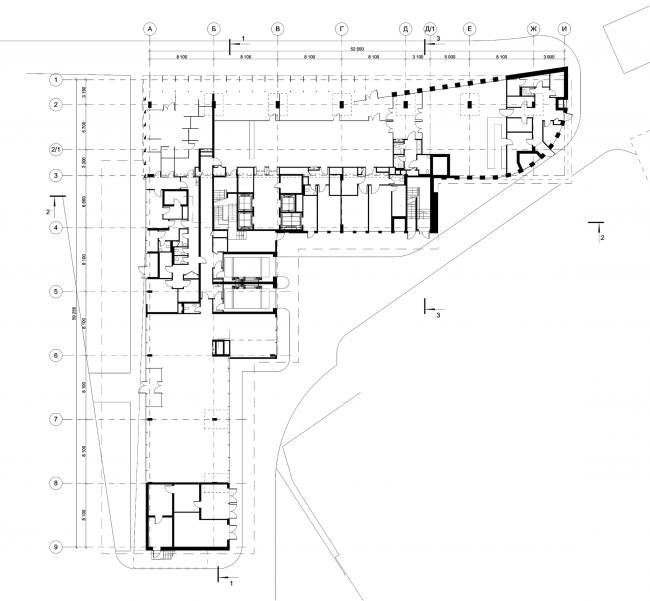 Деловой центр на улице Красина. План 1 этажа © ТПО «Резерв»