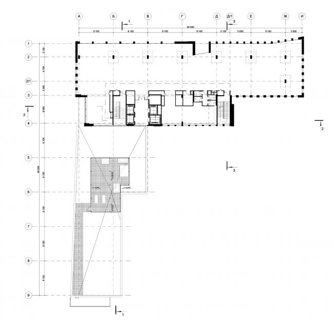 Деловой центр на улице Красина. План 4 этажа © ТПО «Резерв»
