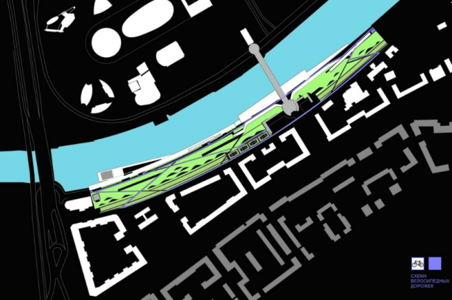 Концепция развития набережной Тараса Шевченко. Конкурсный проект, 2014 © Четвертое измерение