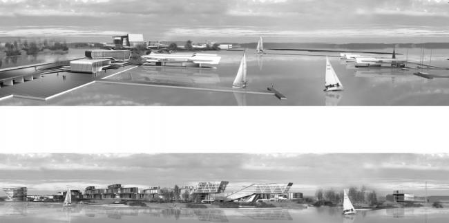 Многофункциональный автономный район «Остров». Проект, 2008 © Четвертое измерение