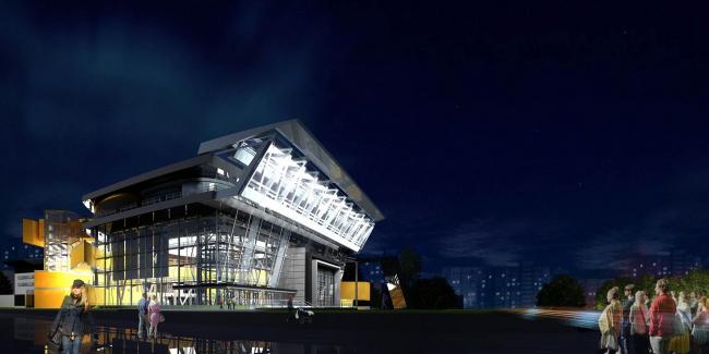 Театральный комплекс «СУРГУТ-ХОЛЛ». Конкурсный проект, 2006 © Четвертое измерение