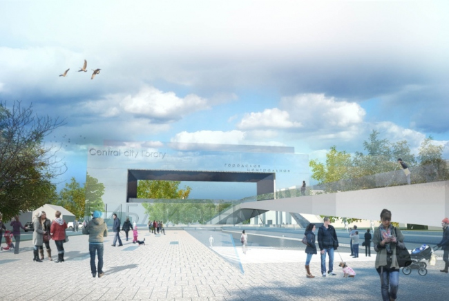 Центральная городская библиотека. Проект, 2013 © Четвертое измерение