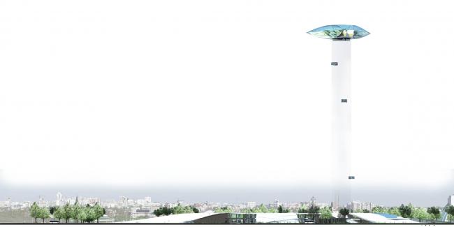 Городской общественный центр «БЕРИЛЛ-БАШНЯ». Проект, 2013 © Четвертое измерение