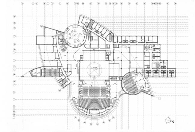Многофункциональный театрально-концертный комплекс «ЮГРА». План 2-го этажа. Реализация, 2005 © Четвертое измерение