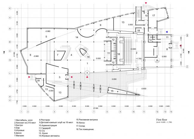 Развлекательный центр «ЛАНГАЛ». 1-ый этаж. Реализация, 2004