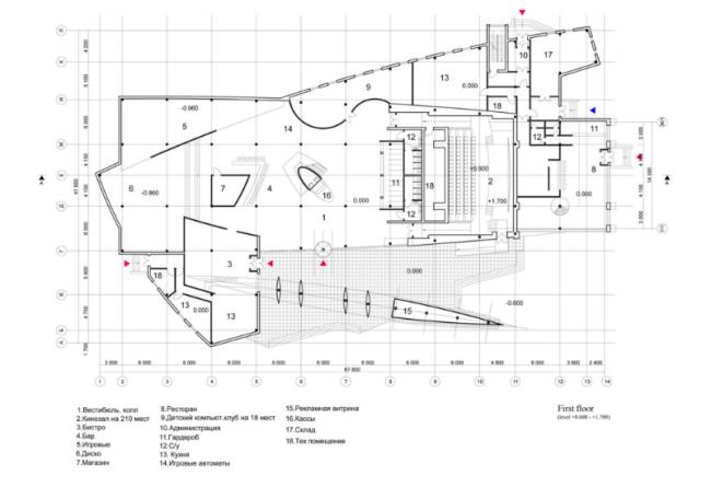 Развлекательный центр «ЛАНГАЛ». 1-ый этаж. Реализация, 2004 © Четвертое измерение