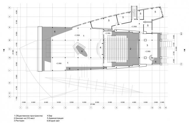 Развлекательный центр «ЛАНГАЛ». 2-ой этаж. Реализация, 2004