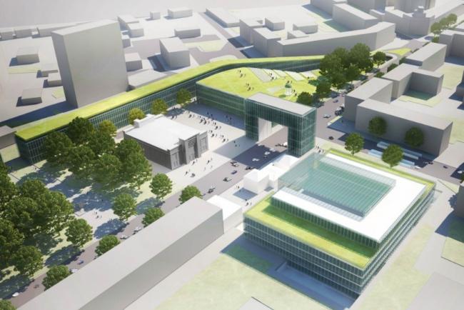 Общественно-культурный комплекс «Народный дом». Проект, 2012 © Четвертое измерение