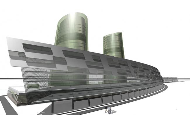 Комплекс аппартаментов «Успенское». 2 вариант. Проект, 2007 © Четвертое измерение