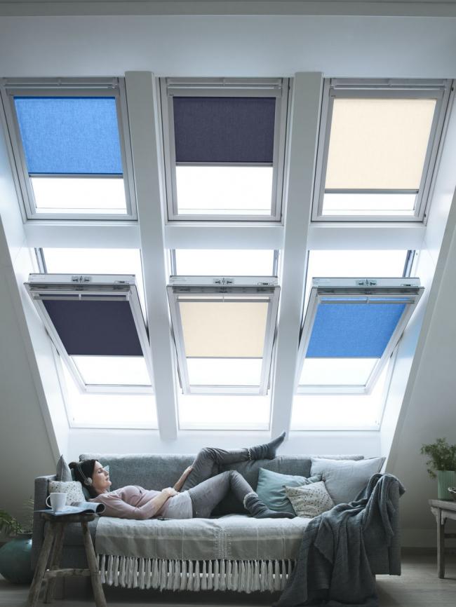 Безграничный простор для фантазии – комбинируйте окна по 4-6-8. Фотография предоставлена компанией Velux