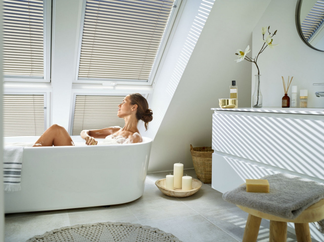 Ванная в мансарде. Фотография предоставлена компанией Velux