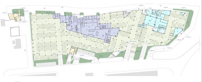 Административно-деловой комплекс металлургической компании. План 1-го этажа на отм. 0.000 © Четвертое измерение