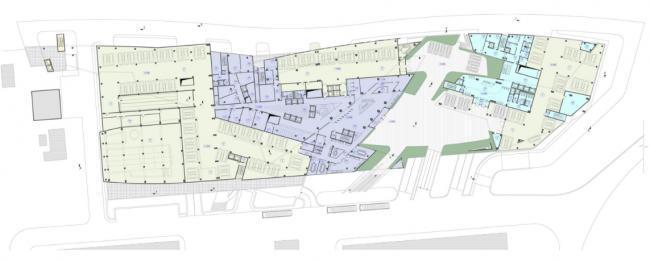 Административно-деловой комплекс металлургической компании. План 2-го этажа на отм. +3.300 © Четвертое измерение