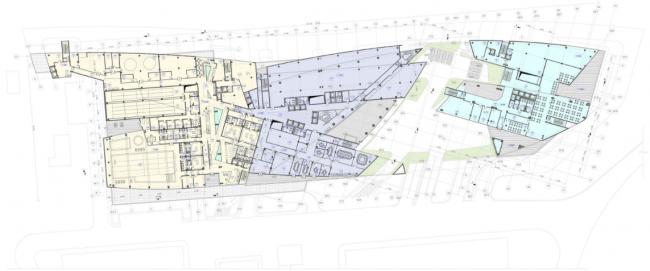 Административно-деловой комплекс металлургической компании. План 3-го этажа на отм. +7.200 © Четвертое измерение