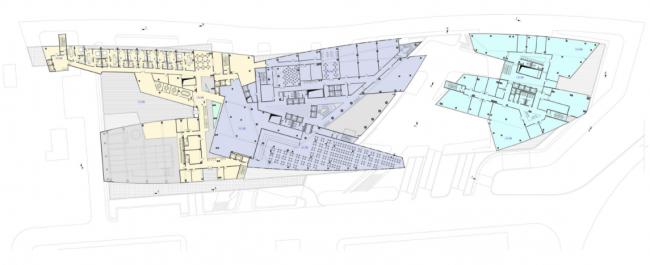 Административно-деловой комплекс металлургической компании. План 4-го этажа на отм. +11.100 © Четвертое измерение