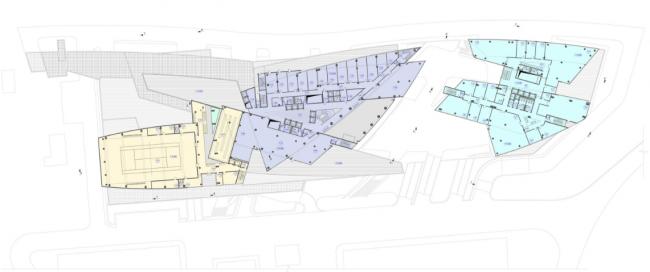 Административно-деловой комплекс металлургической компании. План 5-го этажа на отм. +15.000 © Четвертое измерение