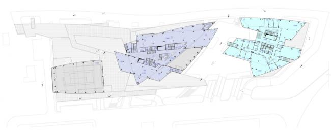 Административно-деловой комплекс металлургической компании. План 6-го этажа на отм. +18.900 © Четвертое измерение