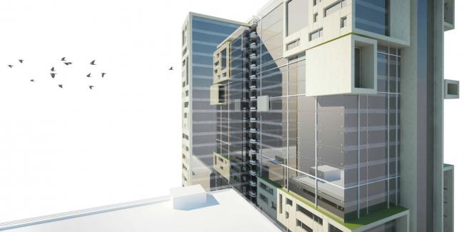 Деловой комплекс «Окна». Проект, 2008 © Четвертое измерение