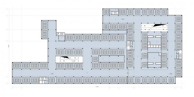 Деловой комплекс «Окна». План 1-го этажа. Проект, 2008 © Четвертое измерение