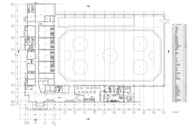Крытый каток «Рублевский лёд». План 1-го этажа © Четвертое измерение