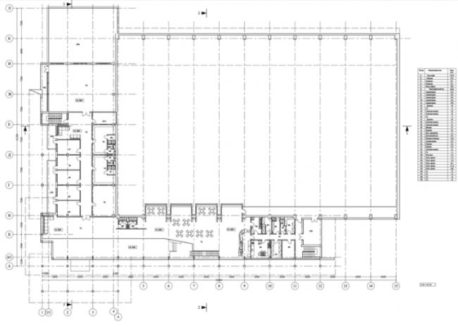 Крытый каток «Рублевский лёд». План 2-го этажа © Четвертое измерение