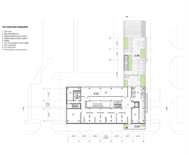 Торгово-досуговый центр «ПАРК 13». План 2-го этажа © Четвертое измерение