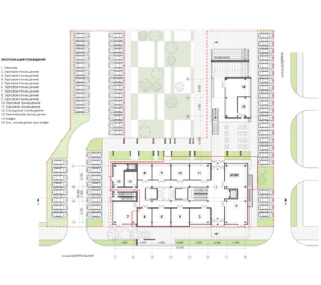 Торгово-досуговый центр «ПАРК 13». План 1-го этажа © Четвертое измерение