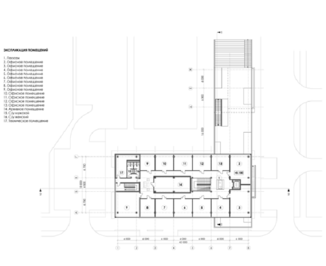 Торгово-досуговый центр «ПАРК 13». План 3-го этажа © Четвертое измерение