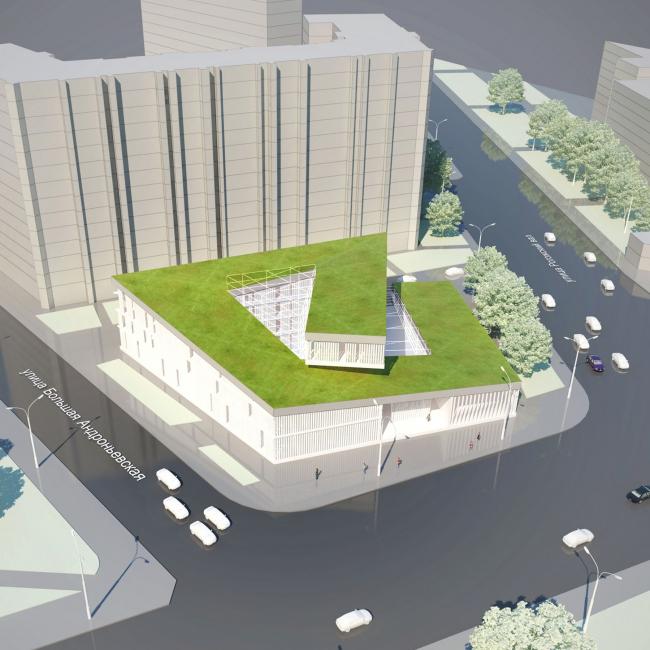 Торговый комплекс «Абельмановская застава». Проект, 2012 © Четвертое измерение